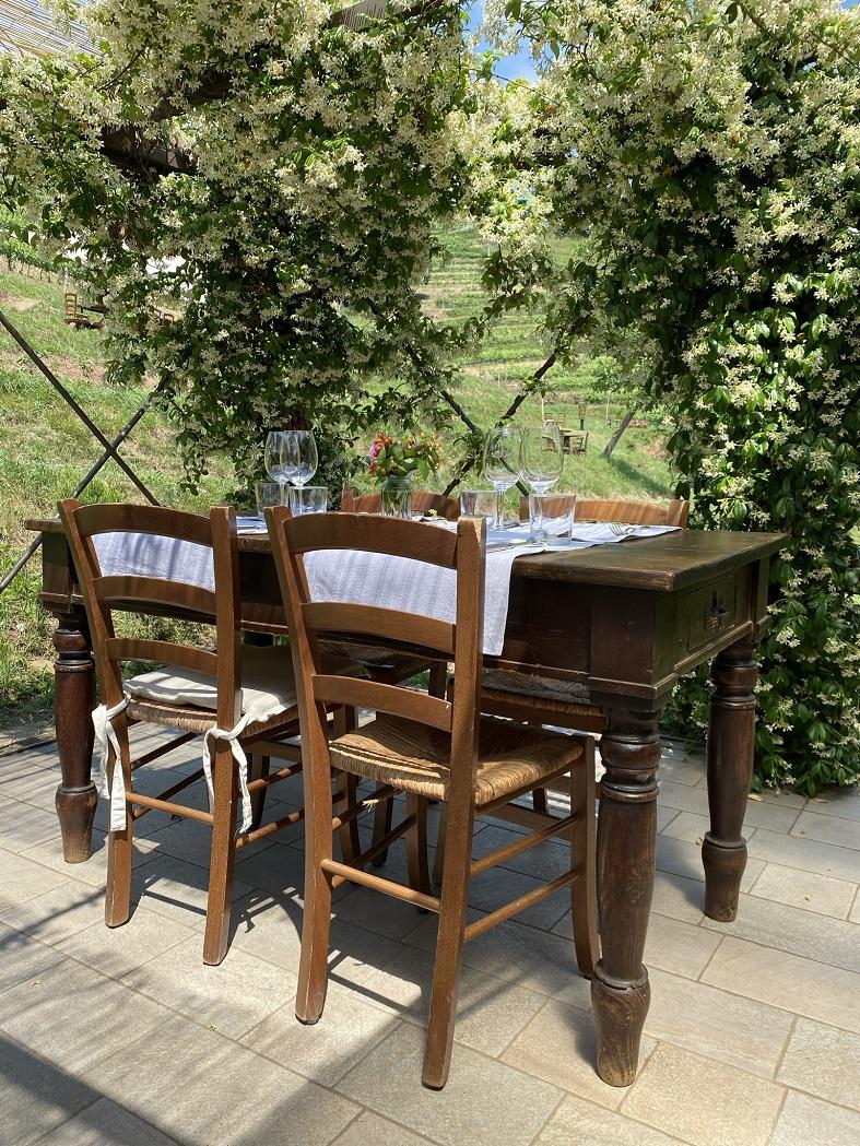I tavoli di Cascina Galbusera Nera