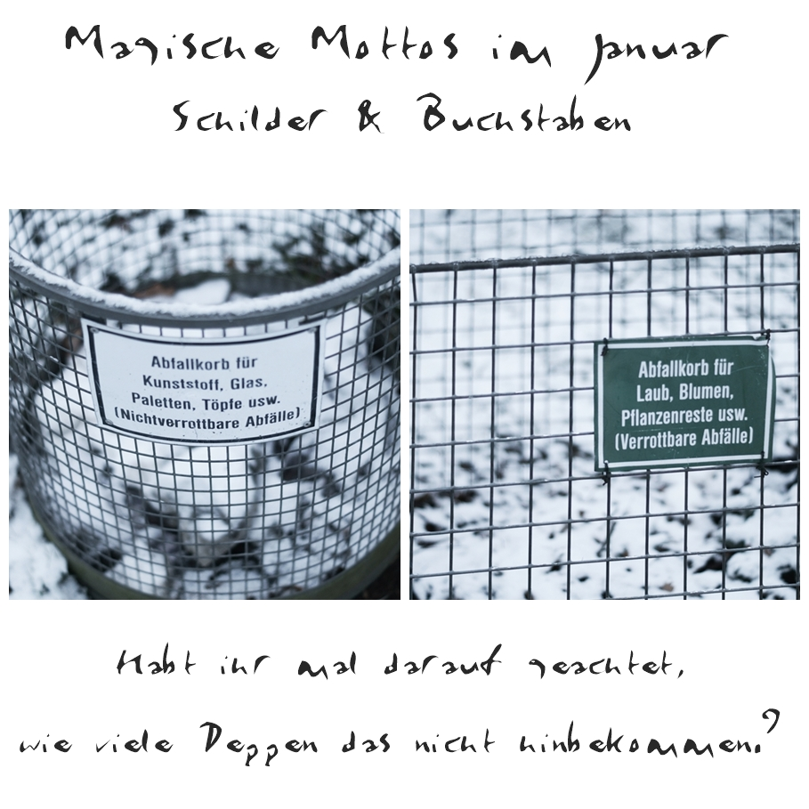 Blog + Fotografie by it's me! - Draussen - Magische Mottos im Januar, Collage Friedhof
