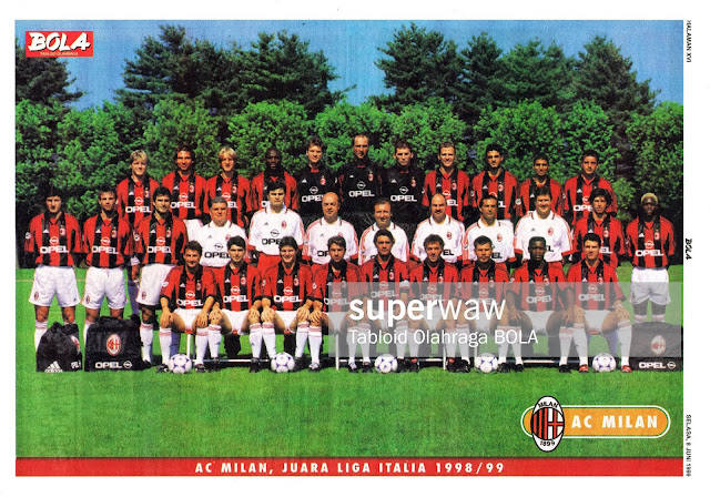 FULL TEAM SQUAD AC MILAN LEGA CALCIO 1998 CHAMPION