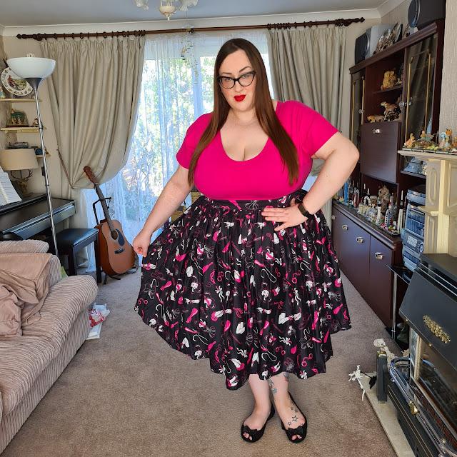 Vixen kinky print skirt