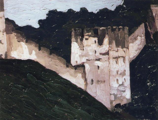 Николай Рерих - Печоры. Монастырские стены и башни. 1903