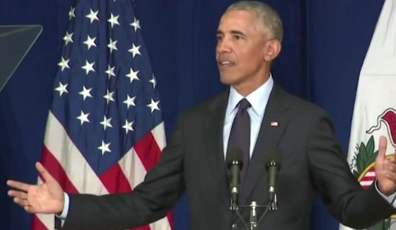 OBAMA TAKES CREDIT FOR BOOMING ECONOMY Trump fires back: 'It wasn't him'