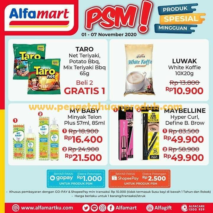 Katalog Promo PSM Alfamart Spesial Mingguan 1 - 7 November 2020