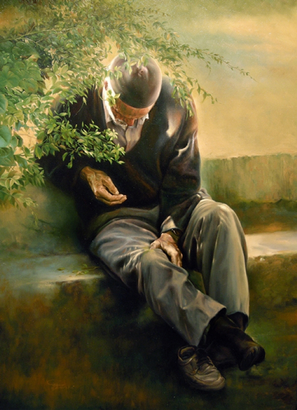 18-Tired-Old-Man-Morteza-Katouzian-Oil-Paintings-Created-with-a-lot-of-Heart-www-designstack-co