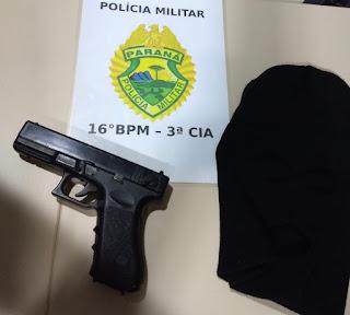 Manoel Ribas: Homem encapuzado assalta farmácia