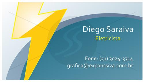 cartoes de visita eletricistas raio amarelo - Cartões de Visita para Eletricistas, Criativos e plugados