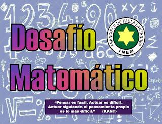 Desafio matemático Jornada Mañana