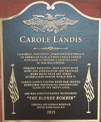 Carole Landis Plaque