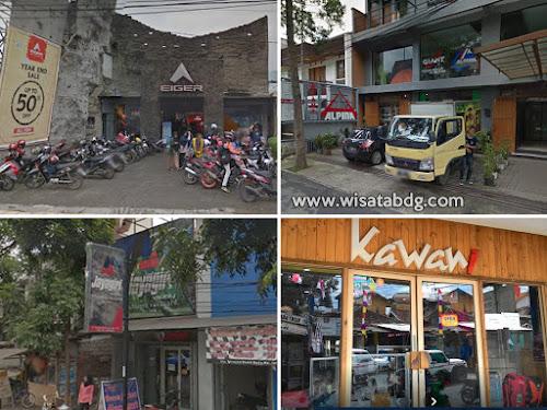 Alamat toko peralatan outdoor terkenal di Bandung
