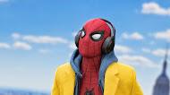 Spiderman listening music Mobile Wallpaper