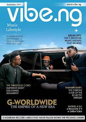 Kiss Daniel, Sugarboy And Emperor Geezy Are The Cover Of September 2017 Issue Of Vibe.ng Magazine.