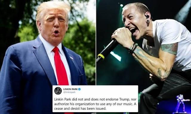 Twitter removes Trump retweet video after Linkin Park complain