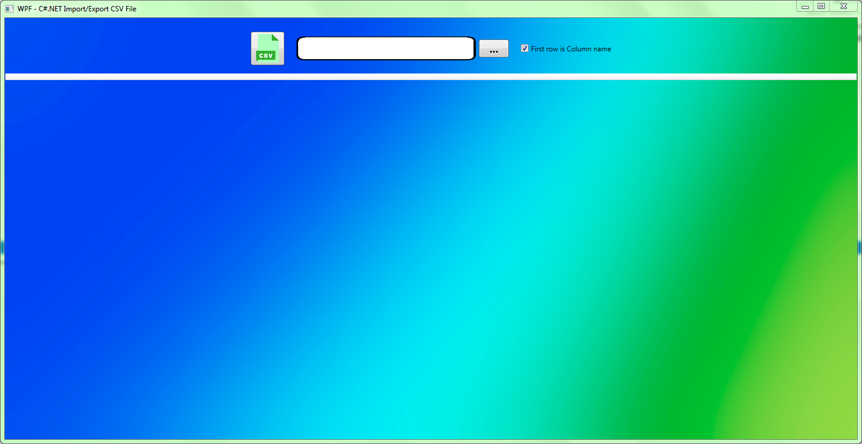 WPF: Import/Export CSV File - Asma's Blog