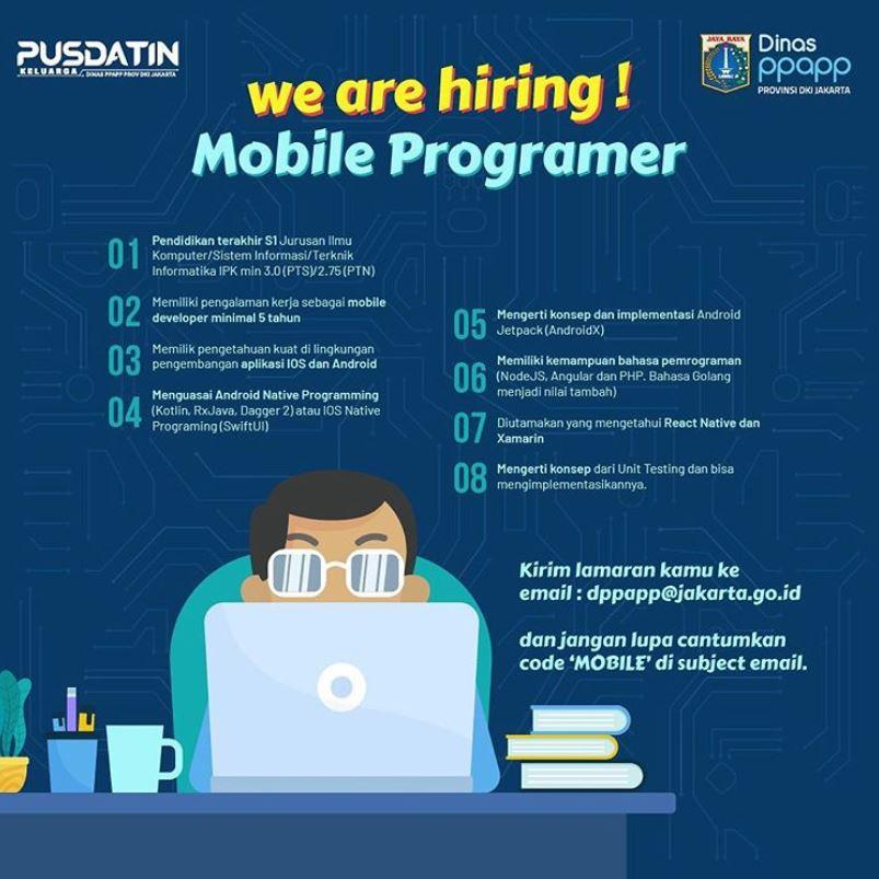 Lowongan Kerja UPT Pusdatin Keluarga Dinas PPAPP Provinsi DKI Jakarta Tahun 2020