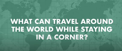 Figure: What can travel around the world while staying in a corner?
