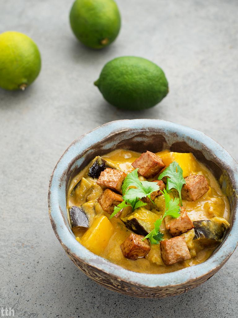 Curry z mango i bakłazanem weganskie, bezglutenowe roślinna kuchnia wegański blog