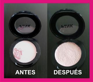 Como reparar maquillaje en polvo