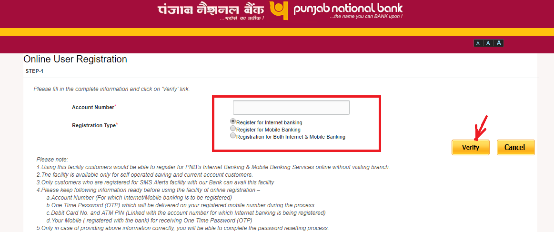 pnb internet banking new account
