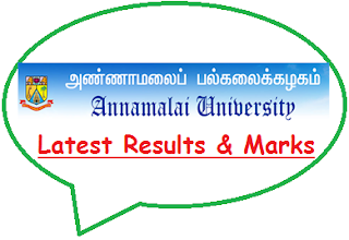 Annamalai University Results May June 2020