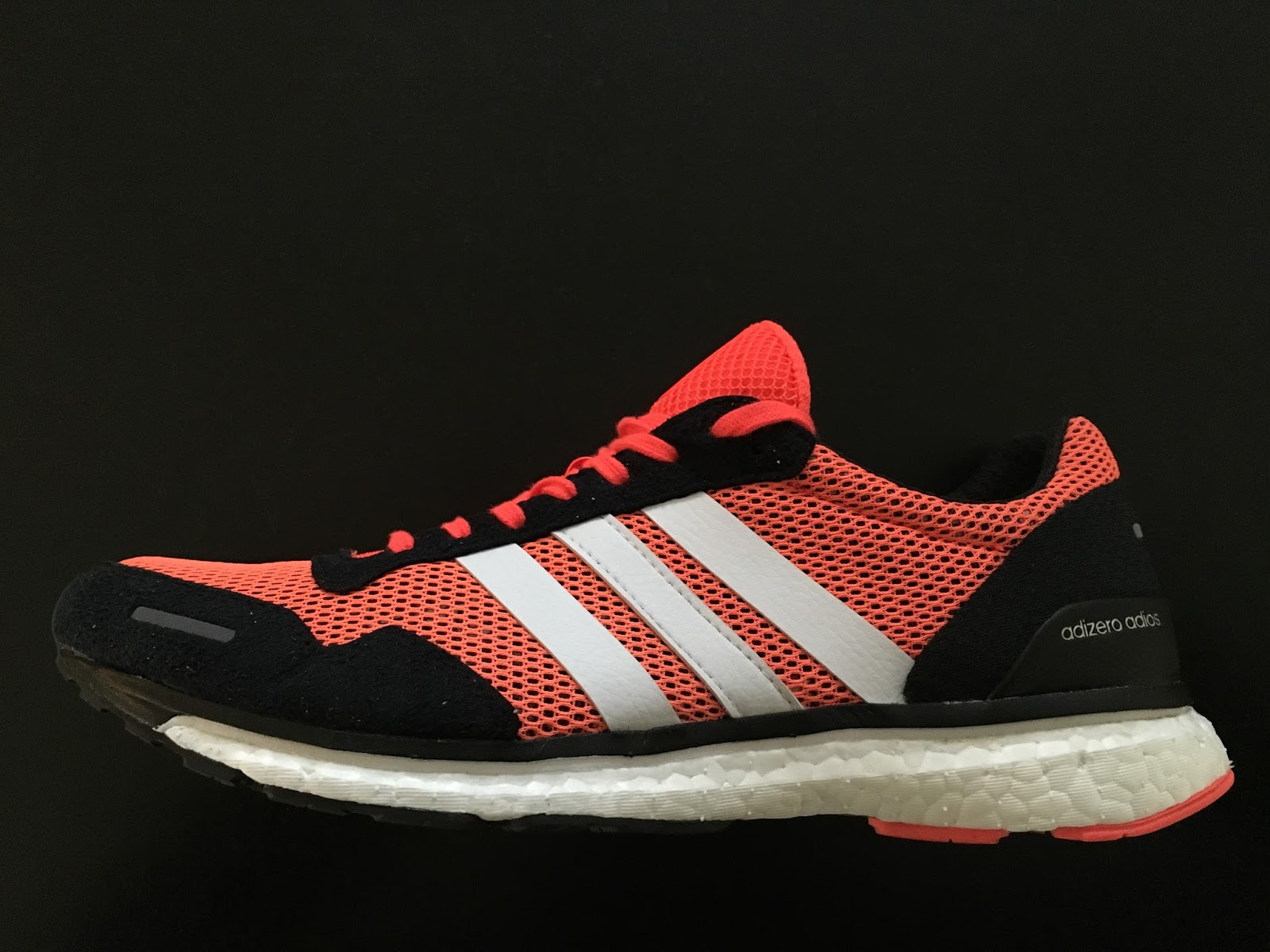 new arrival 3dadc f5069 The adidas adizero adios Boost 3 is the latest iteration of the shoe worn  by Dennis Kimetto to the marathon world record of 202.57 in 2014.