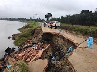 Interdição Estrada do Bairro Limoeiro em Registro-SP