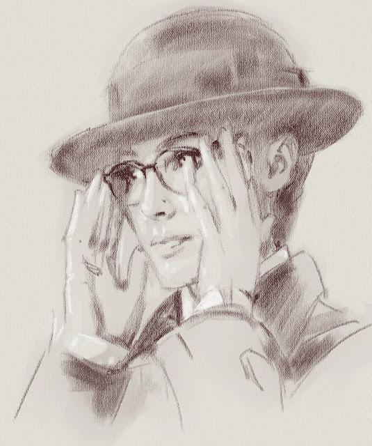 Чудо-женщина в Лондоне. Рисунок Дианы в шляпе