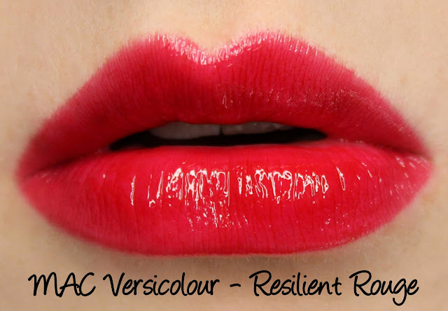 MAC Versicolour - Resilient Rouge Swatches & Review