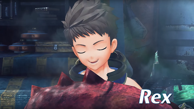Xenoblade Chronicles 2 Rex eating Azurda Nintendo Switch