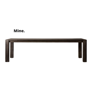timeless black oak parsons style dining table