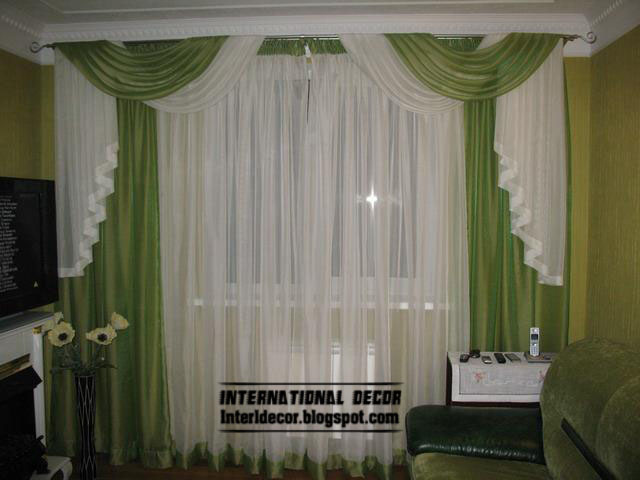 Green Curtain Design And Model For Living Room