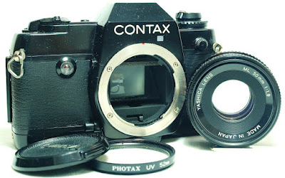 Contax 137 MD Quartz Body #280, Yashica ML 50mm 1:1.9 #214