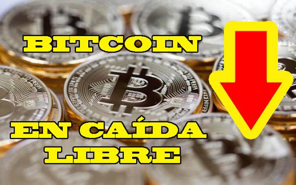 Bitcoin se desplomó hoy en un 40 % - Allá rodó el Petro también!