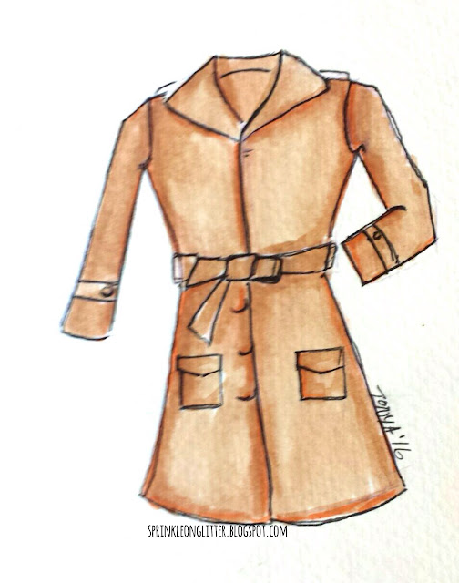 Sprinkle On Glitter Blog// Illustrated Capsule Wardrobe- Coat// Ann Taylor Loft wool coat