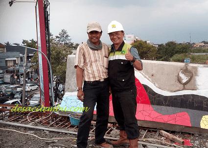 Fly Over Antapani Narsis dengan Surveyor Proyek