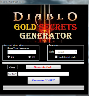 Diablo 3 Gold Generator New CD-KEY - 2013 ~ Hacks For New Games