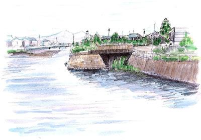 曲川との伏越跡