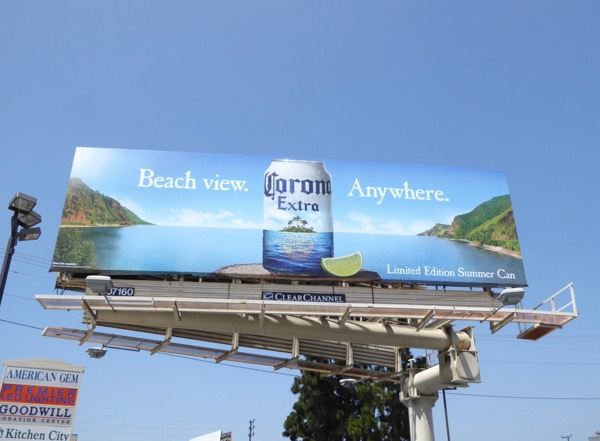 Corona Beach view Anywhere billboard
