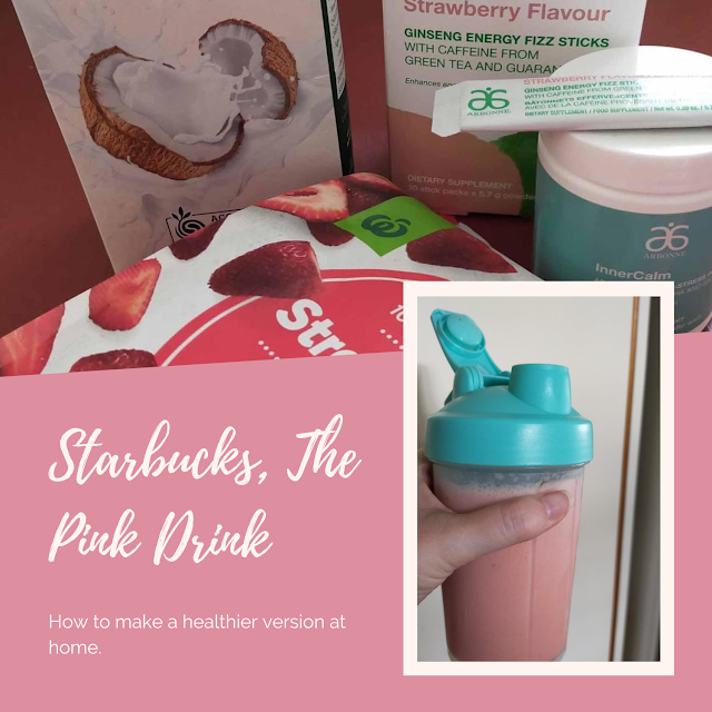 A healthy DIY version of Starbucks Pink Drink
