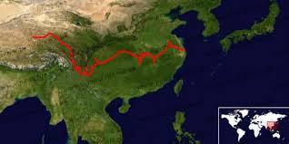 Penyebaran wilayah Paddlefish di Cina