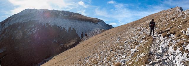 Monte Camicia, discesa per la normale