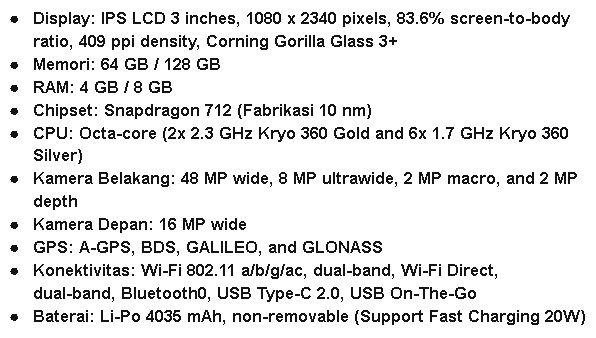 Spesifikasi HP Smartphone Android Realme 5 Pro