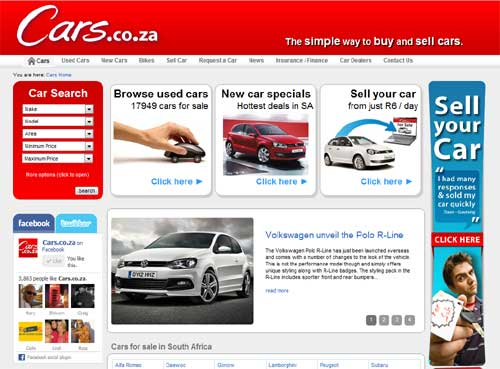 My South African Car Blog: Cars.co.za launches awesome new ...