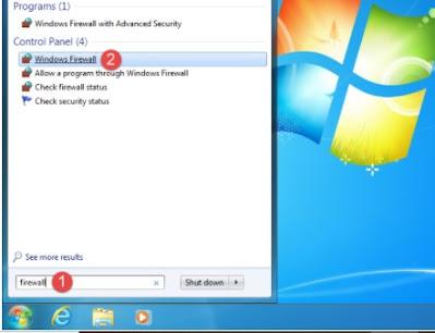 Windows Firewall di windows 7