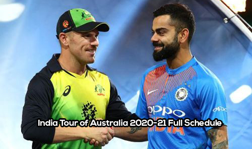 India Tour of Australia 2020-21 Full Schedule, Venues, Pink Ball, ODI, Test, T20