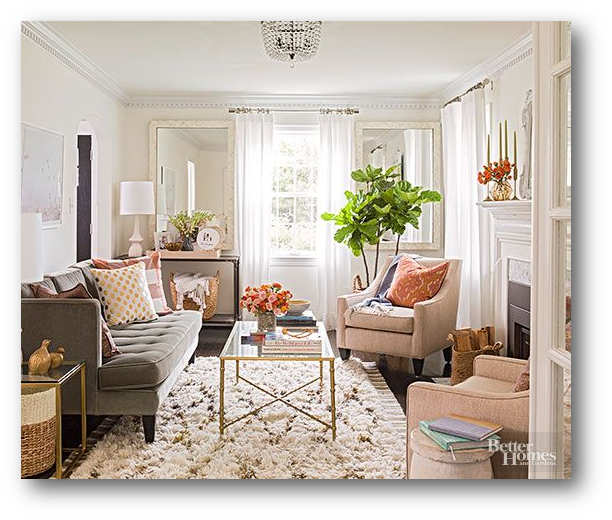 The Accented Neutral Color Scheme Gets A New Twist In This Better Homes Gardens Room It Features ALL Traditional Neutrals White Cream Tans
