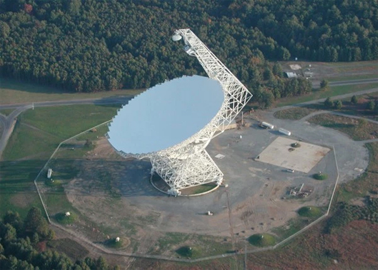 Green Bank telescope em West Virginia nos EUA