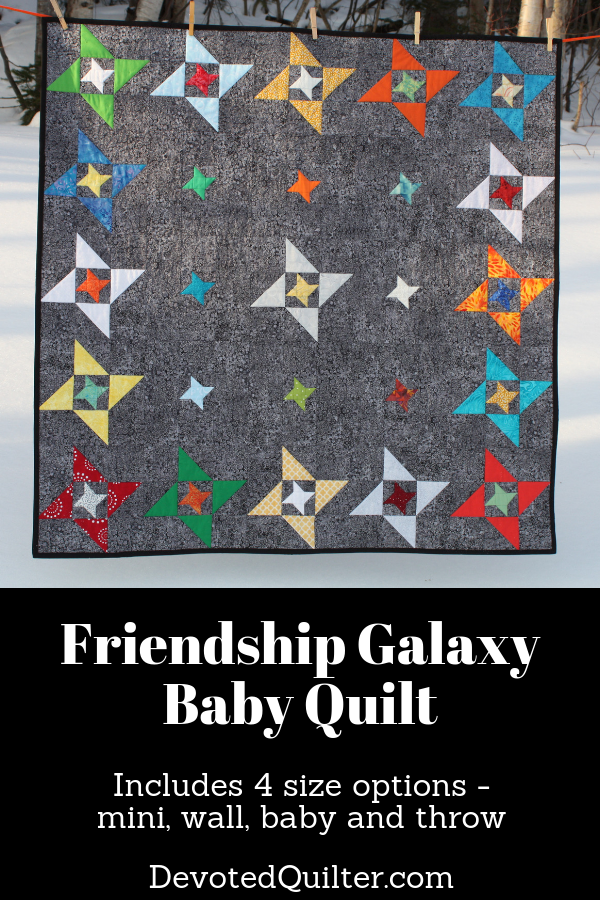 Friendship Galaxy quilt pattern | DevotedQuilter.com