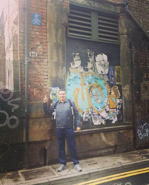 _manic_ street art on Bunsen Street in Manchester