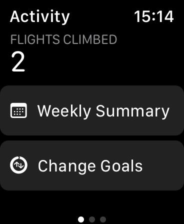 تغيير الأهداف على Apple Watch