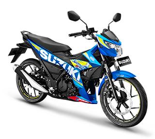Satria F150 Injeksi Macho Bright Blue (MotoGP Series)